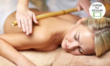 4, 8 ou 12 sessões de bambuterapia, massagem modeladora e ultrassom no Equilibrium Estética e Saúde – Pampulha