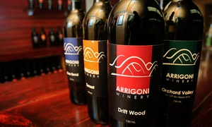 Arrigoni Winery: Wine Tasting with Cheese Plate and Souvenir Glasses for Two or Four at Arrigoni Winery (Up to 64% Off)