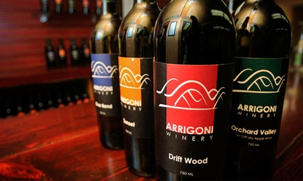 Wine Tasting with Cheese Plate and Souvenir Glasses for Two or Four at Arrigoni Winery (Up to 50% Off)