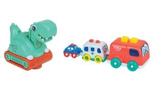 Dinosaure électronique et 3 véhicules gigognes WDK Partner