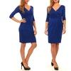 TRULEE Women's Three-Quarter-Sleeve V-Neck Wrap Dress (Size S)