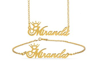 Up to 93% Off Personalized Name Crown Necklaces