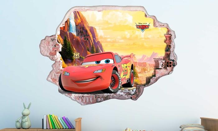 Wandsticker Disney Cars 3d Effekt Groupon Goods