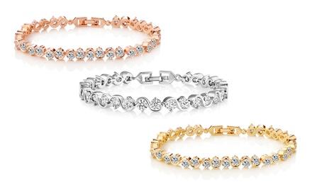 c9d97d113435 1 o 3 pulseras Solitaire adornados con cristales de Swarovski Elements®  desde 12