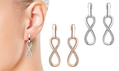 1 o 2 pares de pendientes Infinity adornados con cristales Swarovski® Oferta en Groupon