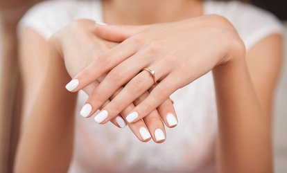 Gel Manicure with Optional <strong>Spa</strong> Pedicure or 2 Manicures and 2 Pedicures at Society Nails and <strong>Spa</strong> (Up to 57% Off)