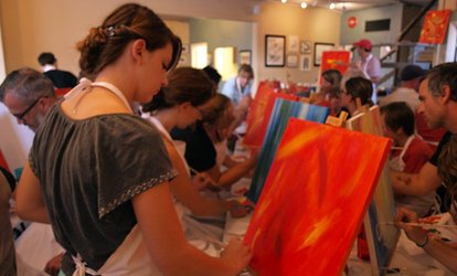 Painting and Vino Class for One, Two, or Four at Teller Street Gallery and Studios (Up to 44% Off)