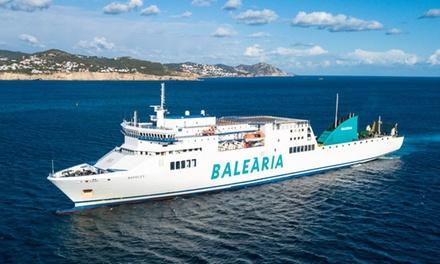 Descuento del 60% en billete de Ferry Barcelona - Formentera y opción con moto o coche a bordo desde 5.95€ con Balearia