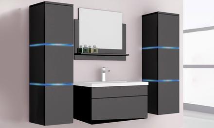 home deluxe badm bel in schwarz groupon goods. Black Bedroom Furniture Sets. Home Design Ideas