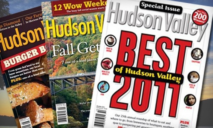 """Hudson Valley Magazine - Piedmont: One- or Two-Year Subscription to """"Hudson Valley"""" Magazine (Up to 60% Off)"""