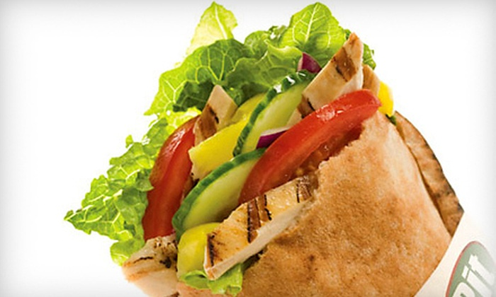 Pita Pit - Downtown Colorado Springs: $5 for $10 Worth of Pitas and Drinks at Pita Pit