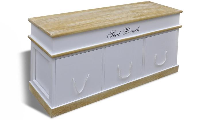 Banc De Rangement Blanc Groupon