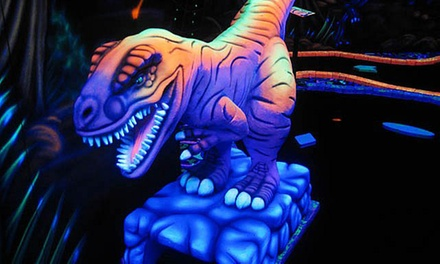 18 Holes of Glow-in-the-Dark Mini Golf for Four, Six, or Eight at U-Puttz Black Light Miniature Golf (Up to 57% Off)