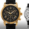 So & Co New York Men's Chronograph Watch with Leather Band