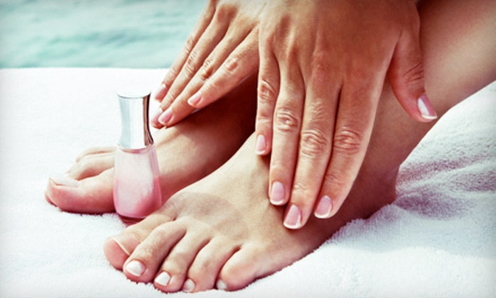 Greentoes - West University: One or Two Express Mani-Pedis at Greentoes (Up to 59% Off)
