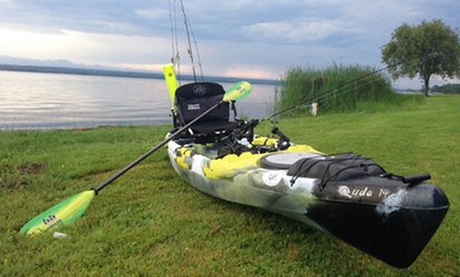 image for Four-Hour Guided Kayak Fishing Clinic for Two or Four from Fuzzy Guppies (Up to 40% Off)