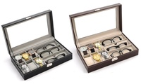 9- or 12-Piece Watch and Sunglasses Case from AED 69 (Up to 65% Off)