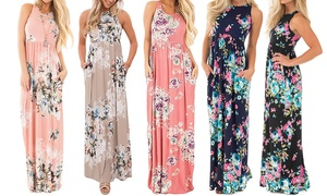Women's Maxi Floral Dress at Women's Maxi Floral Dress, plus 9.0% Cash Back from Ebates.