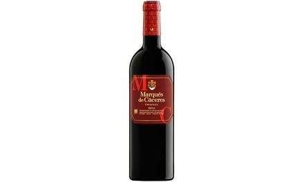 Pack de 3, 6 o 12 botellas de vino tinto Marqués de Cáceres, D.O. Rioja (envío gratuito)