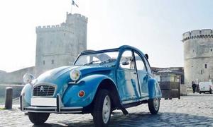 Retro Balades: Balade à l'île de Ré ou la Rochelle en voiture de collection jusqu'à 2 ou 4 personnes dès 59,90 € avec Retro Balades