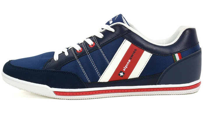 timeless design a01d8 a28a1 Alpine Swiss Stefan Men s Retro Fashion Sneakers (Sizes 11   13)   Groupon