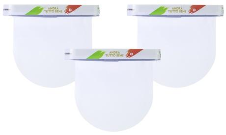 3 o 5 viseras protectoras de PVC