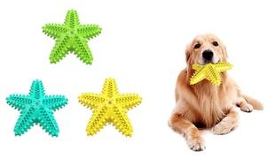 1 ou 2 jouets brosse à dents à mâcher pour chien étoile de mer 7-en-1