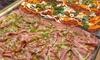 Teglia di pizza da asporto