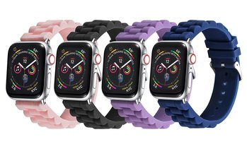 Posh Tech Silicone Link Bands for Apple Watch Series 1, 2, 3, 4