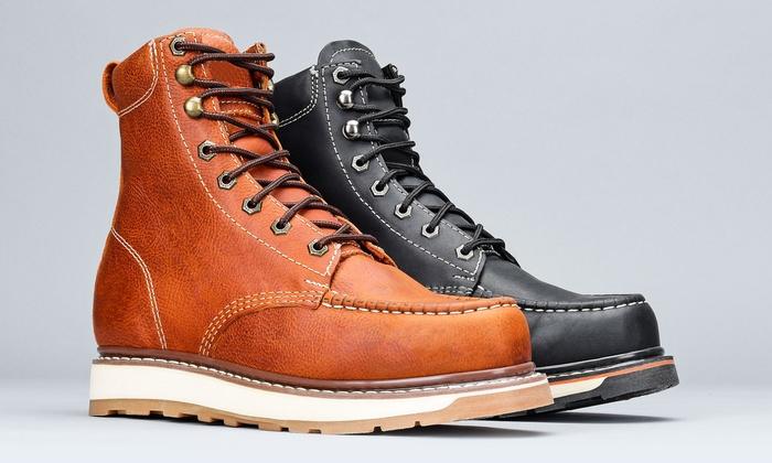 Moc-Toe Work Boots