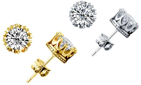 One or Two Pairs of Royal Crown Earrings