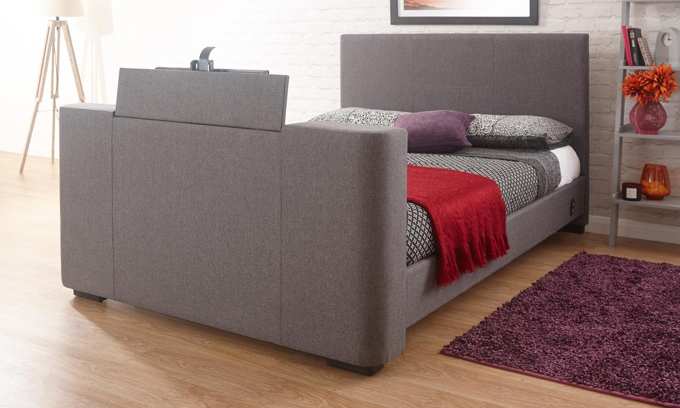 Double Or King Size Newark Electric Tv Fabric Bed With