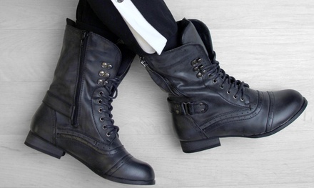 Military-Style Ankle Boots
