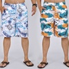 Men's Graphic Board Shorts with Drawstring