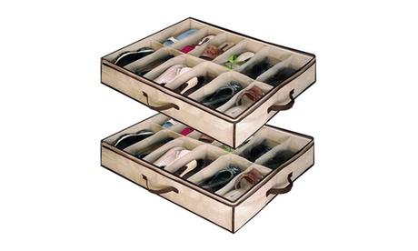 Organizador de zapatos bajo-cama con capacidad de 12 pares