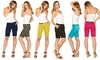 Women's Bermuda Shorts with Removable Belt