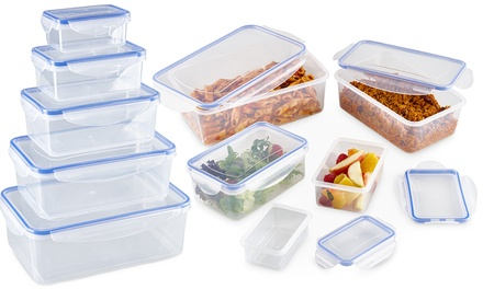 One or Two 10Piece Plastic Storage Container Sets