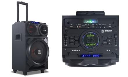 Sistema de sonido GoClever 100W con Bluetooth LED DJ Mixer