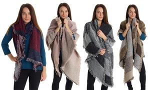 (Mode) 1 ou 2 écharpes Femme oversize -72% réduction
