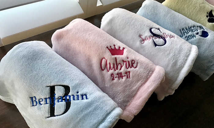 Qualtry: One or Two Personalized Baby Blankets from Qualtry (Up to 53% Off)