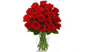 47% Off 18 Red Roses with Glass Ginger Vase at ProFlowers, plus 9.0% Cash Back from Ebates.