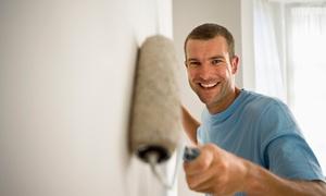 RM Lavori Edili: Imbiancatura fino a 150 m² più una, 2 o 3 pareti colorate con RM Lavori Edili (sconto fino a 87%)