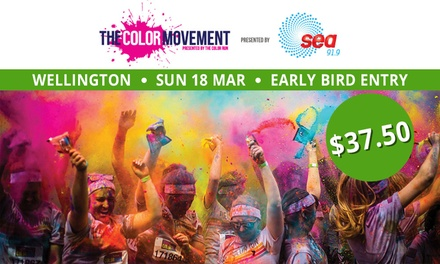 The Color Movement   Wellington: Entry for $37.50, Sunday 18 March, Ian Galloway Park (Dont Pay $56.75 Value)
