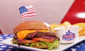 Emily's Diner Clermont: 2 menus Los Angeles ou New York (burger, boisson et dessert) pour 2 personnes dès 17,50 € chez Emily's Diner Clermont