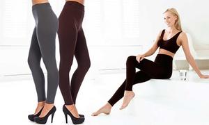 (Mode)  Lot de deux leggings doublés