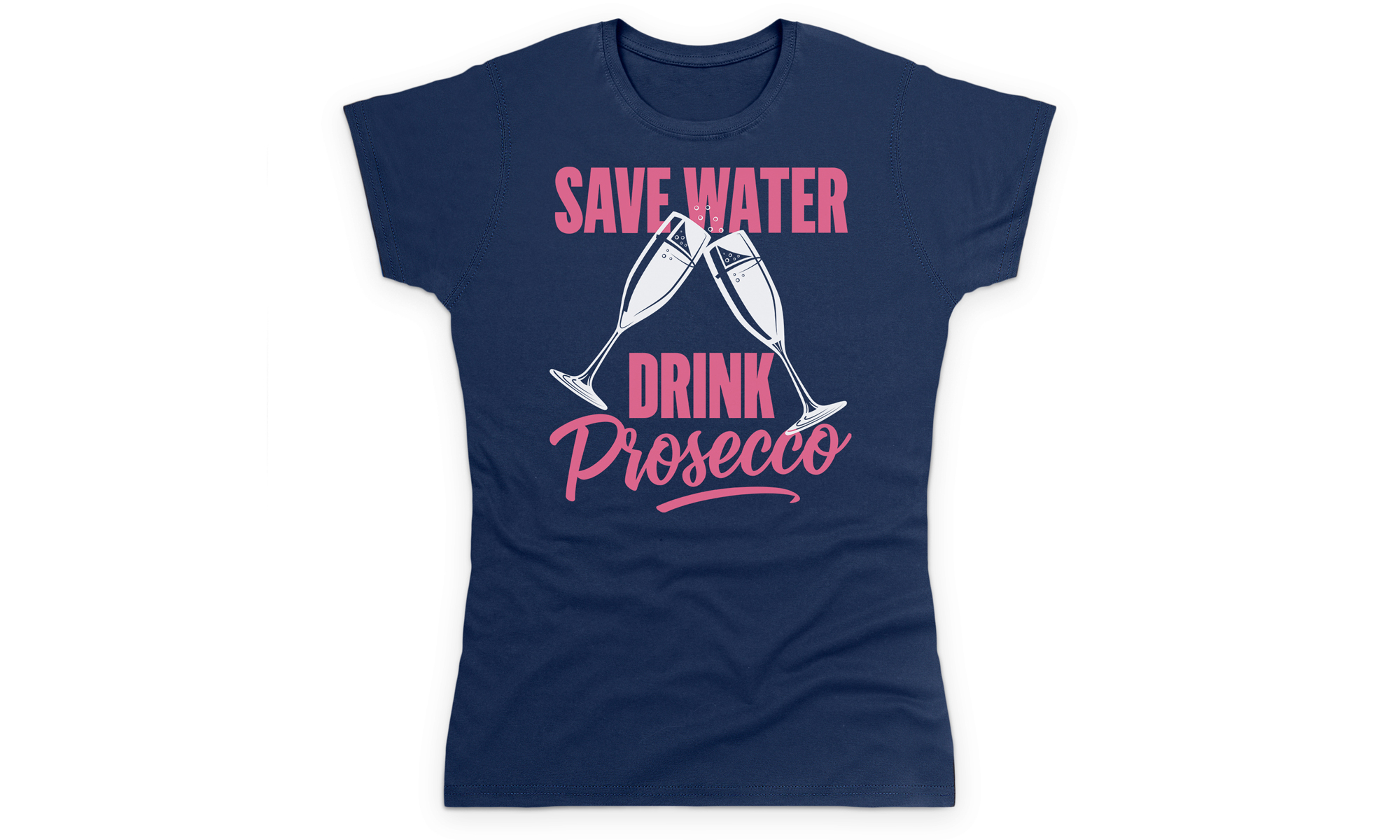 Women's Novelty Prosecco T-Shirts From £9.98