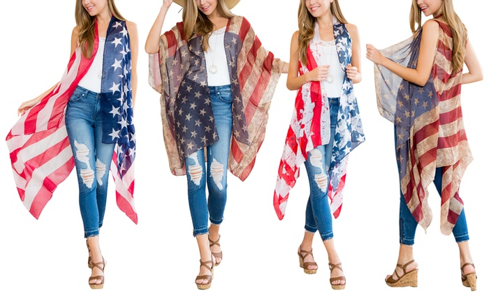 Women's American Flag Cardigan | Groupon