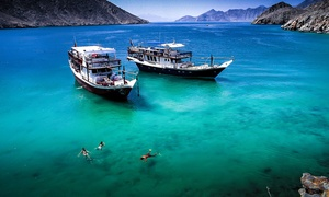 Water World Tourism: Oman Musandam Dibba Full Day Trip for One, Two or Four with Water World Tourism (Up to 65% Off)