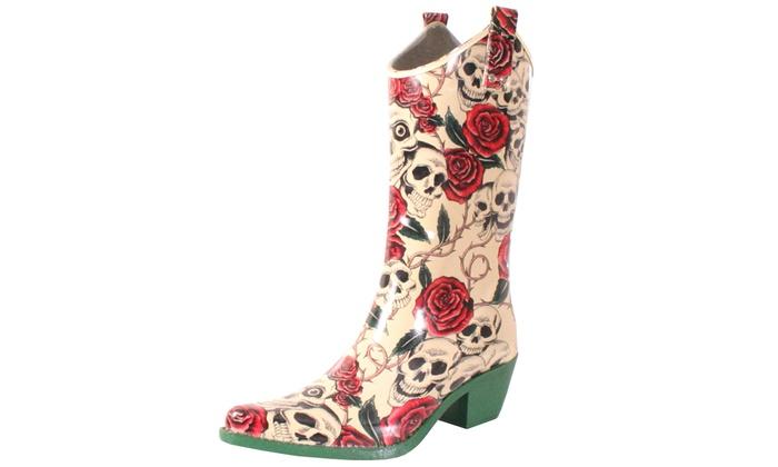 30cf0ee18 Nomad Footwear Women's Printed Cowboy Rubber Rain Boot | Groupon