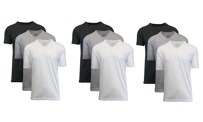 Galaxy by Harvic Men's V-Neck Undershirts (9-Pack)